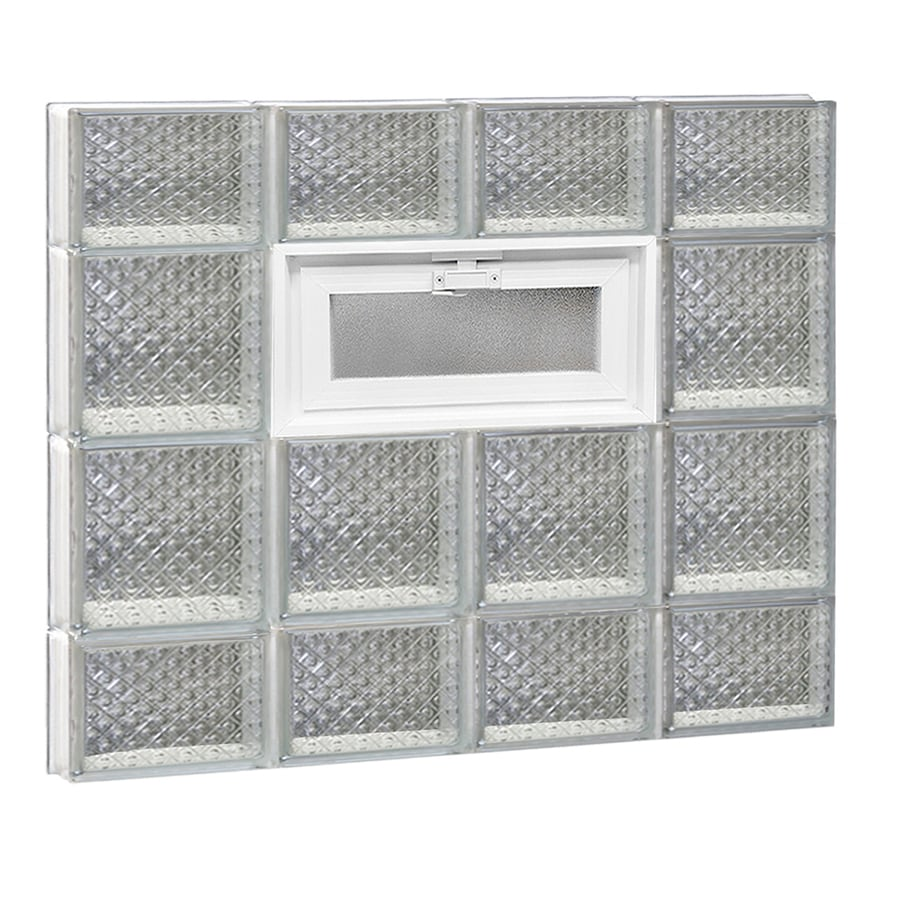 REDI2SET Diamond Glass Pattern Frameless Replacement Glass Block Window (Rough Opening: 32-in x 28-in; Actual: 31-in x 27-in)