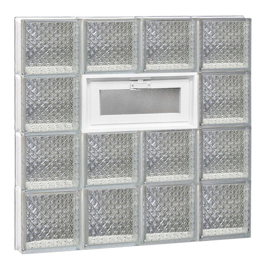 REDI2SET Diamond Pattern Frameless Replacement Glass Block Window (Rough Opening: 32-in x 32-in; Actual: 31-in x 31-in)
