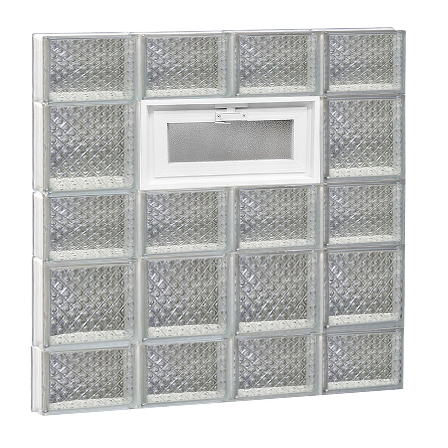 REDI2SET Diamond Pattern Frameless Replacement Glass Block Window (Rough Opening: 32-in x 34-in; Actual: 31-in x 32.75-in)