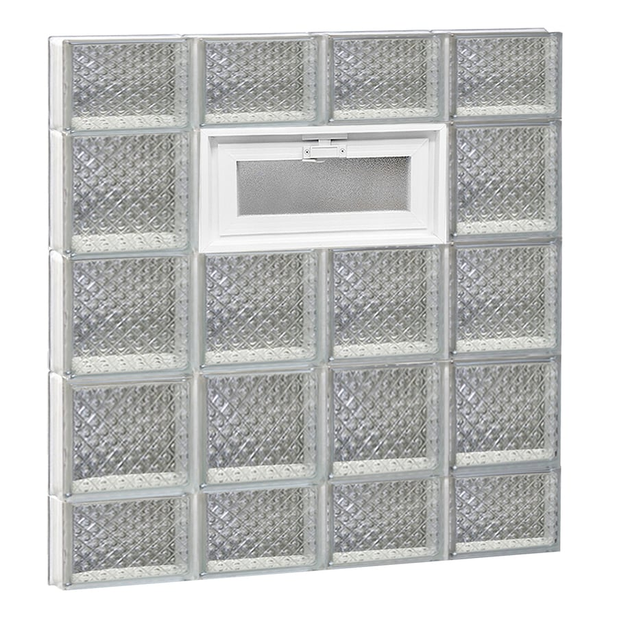 REDI2SET Diamond Pattern Frameless Replacement Glass Block Window (Rough Opening: 32-in x 36-in; Actual: 31-in x 34.75-in)