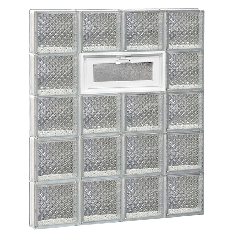 REDI2SET Diamond Pattern Frameless Replacement Glass Block Window (Rough Opening: 32-in x 40-in; Actual: 31-in x 38.75-in)