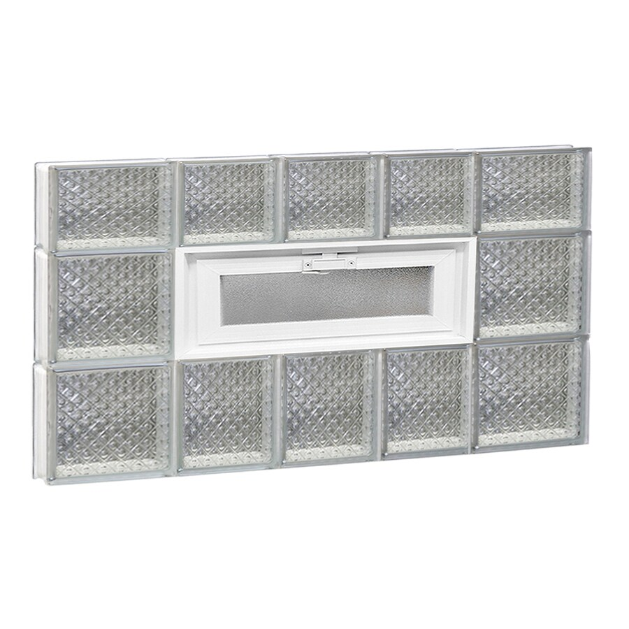 REDI2SET Diamond Pattern Frameless Replacement Glass Block Window (Rough Opening: 34-in x 22-in; Actual: 32.75-in x 21.25-in)