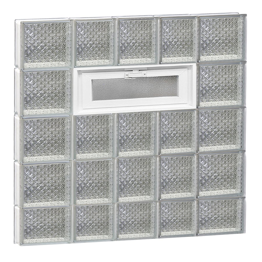 REDI2SET Diamond Pattern Frameless Replacement Glass Block Window (Rough Opening: 34-in x 38-in; Actual: 32.75-in x 36.75-in)