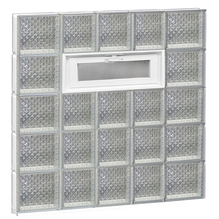 REDI2SET Diamond Pattern Frameless Replacement Glass Block Window (Rough Opening: 34-in x 40-in; Actual: 32.75-in x 38.75-in)