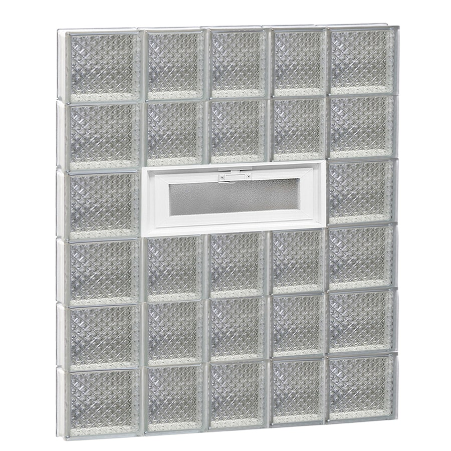 REDI2SET Diamond Pattern Frameless Replacement Glass Block Window (Rough Opening: 34-in x 48-in; Actual: 32.75-in x 46.5-in)