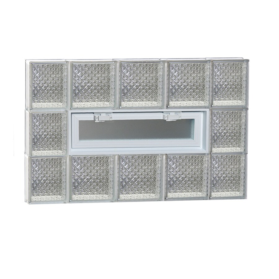 REDI2SET Diamond Pattern Frameless Replacement Glass Block Window (Rough Opening: 36-in x 24-in; Actual: 34.75-in x 23.25-in)