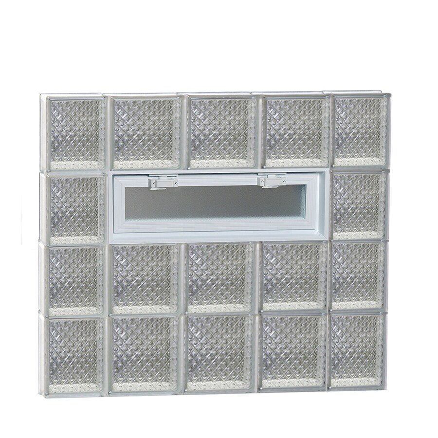 REDI2SET Diamond Pattern Frameless Replacement Glass Block Window (Rough Opening: 36-in x 32-in; Actual: 34.75-in x 31-in)