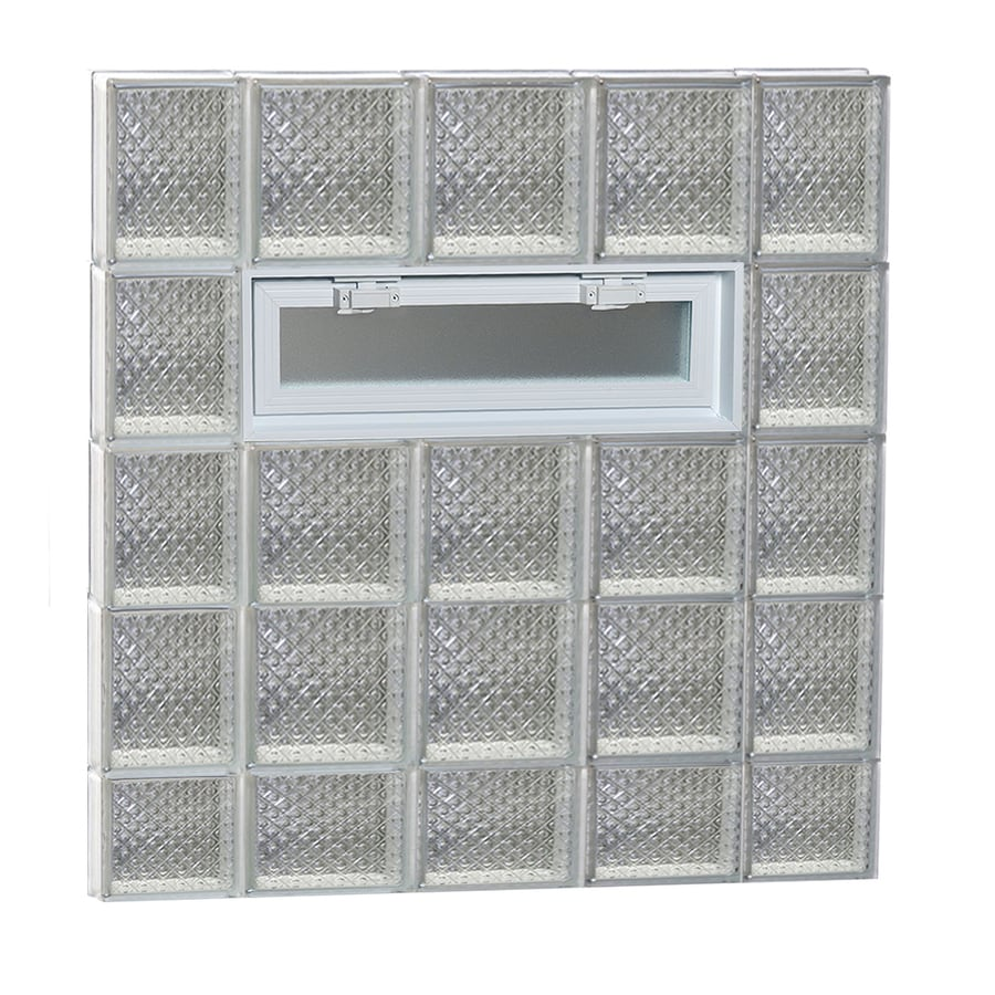 REDI2SET Diamond Glass Pattern Frameless Replacement Glass Block Window (Rough Opening: 36-in x 38-in; Actual: 34.7500-in x 36.7500-in)