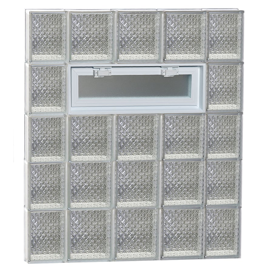 REDI2SET Diamond Pattern Frameless Replacement Glass Block Window (Rough Opening: 36-in x 40-in; Actual: 34.75-in x 38.75-in)