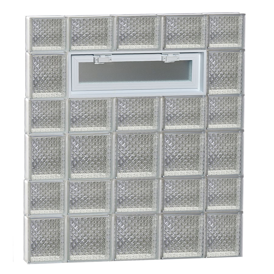 REDI2SET Diamond Pattern Frameless Replacement Glass Block Window (Rough Opening: 36-in x 42-in; Actual: 34.75-in x 40.5-in)