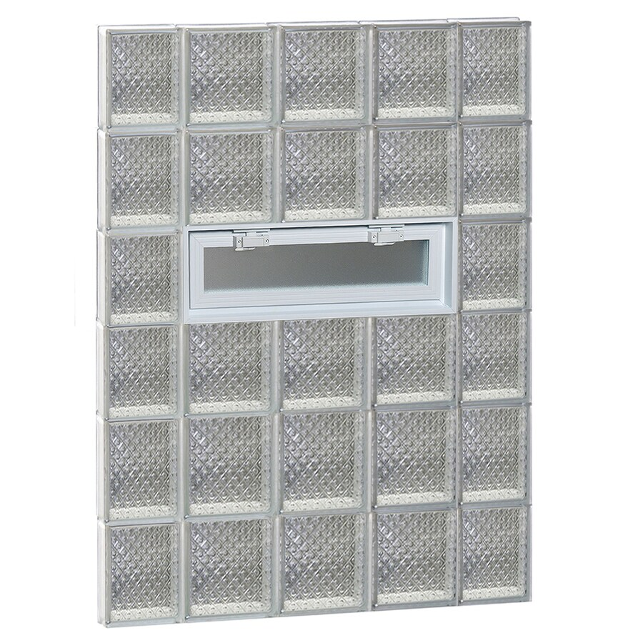 REDI2SET Diamond Pattern Frameless Replacement Glass Block Window (Rough Opening: 36-in x 48-in; Actual: 34.75-in x 46.5-in)