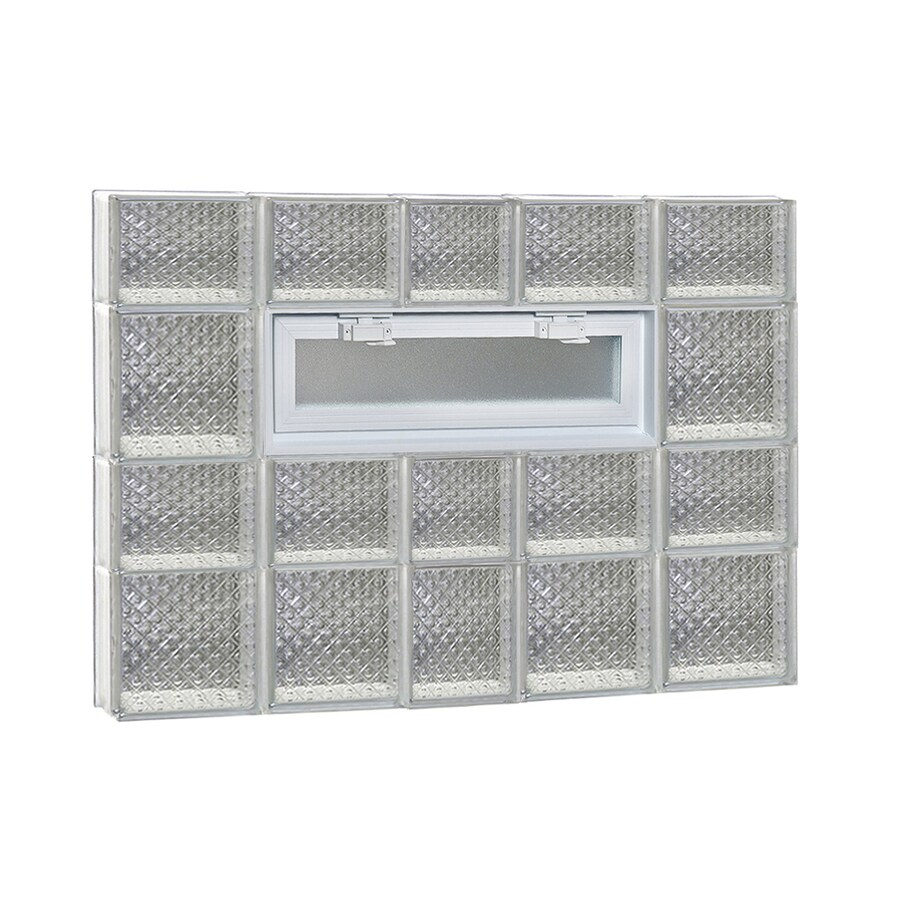 REDI2SET Diamond Pattern Frameless Replacement Glass Block Window (Rough Opening: 38-in x 34-in; Actual: 36.75-in x 32.75-in)
