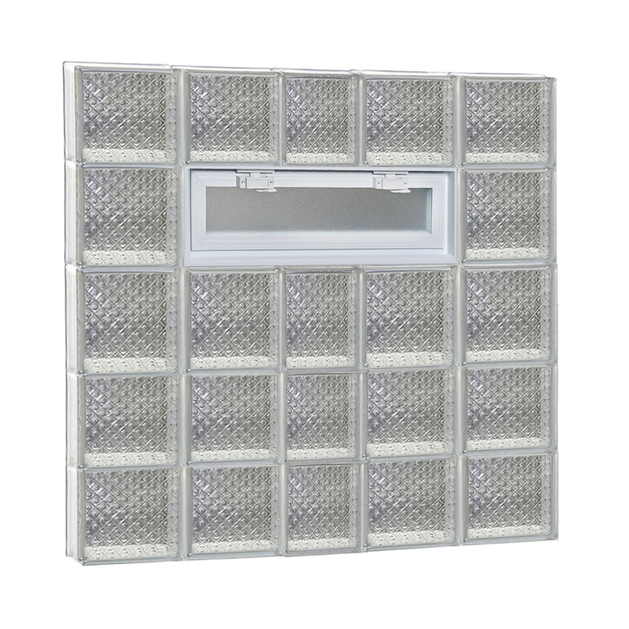 REDI2SET Diamond Pattern Frameless Replacement Glass Block Window (Rough Opening: 38-in x 40-in; Actual: 36.75-in x 38.75-in)