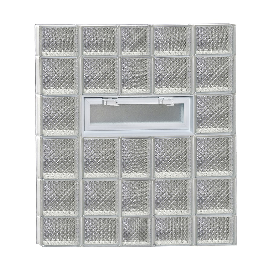 REDI2SET Diamond Pattern Frameless Replacement Glass Block Window (Rough Opening: 38-in x 44-in; Actual: 36.75-in x 42.5-in)
