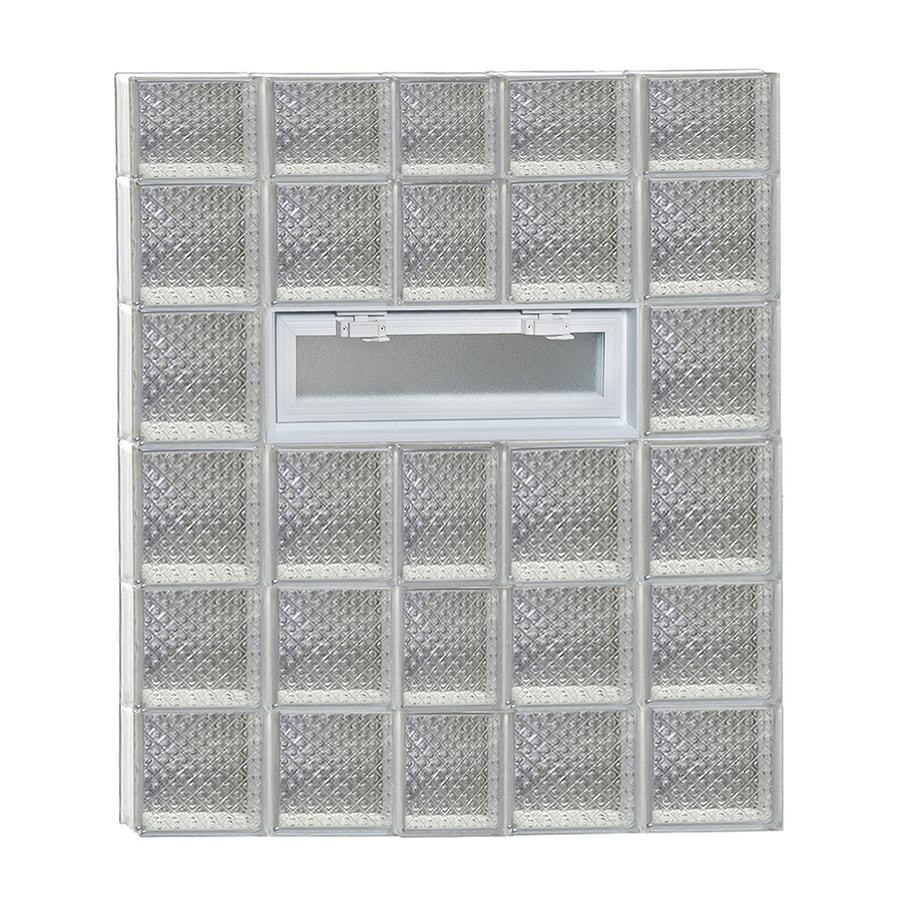 REDI2SET Diamond Pattern Frameless Replacement Glass Block Window (Rough Opening: 38-in x 46-in; Actual: 36.75-in x 44.5-in)