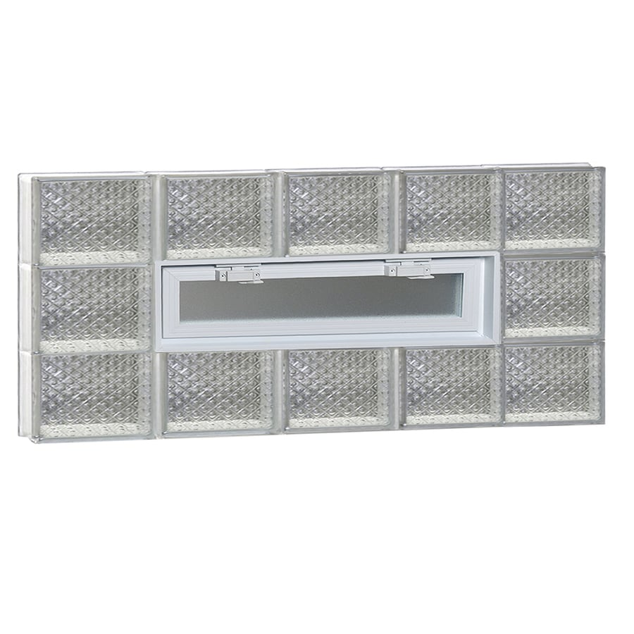 REDI2SET Diamond Glass Pattern Frameless Replacement Glass Block Window (Rough Opening: 40-in x 18-in; Actual: 38.75-in x 17.25-in)