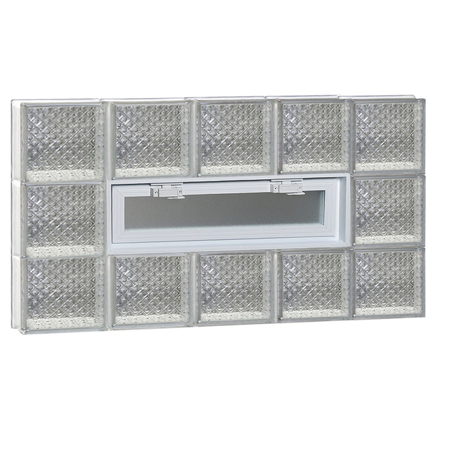 REDI2SET Diamond Pattern Frameless Replacement Glass Block Window (Rough Opening: 40-in x 24-in; Actual: 38.75-in x 23.25-in)