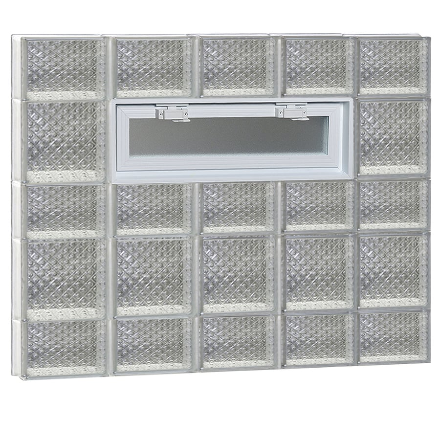 REDI2SET Diamond Pattern Frameless Replacement Glass Block Window (Rough Opening: 40-in x 34-in; Actual: 38.75-in x 32.75-in)