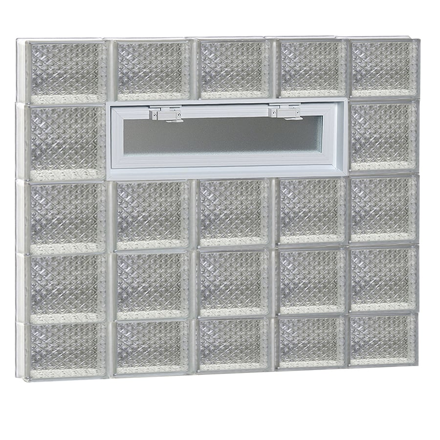 REDI2SET Diamond Pattern Frameless Replacement Glass Block Window (Rough Opening: 40-in x 36-in; Actual: 38.75-in x 34.75-in)