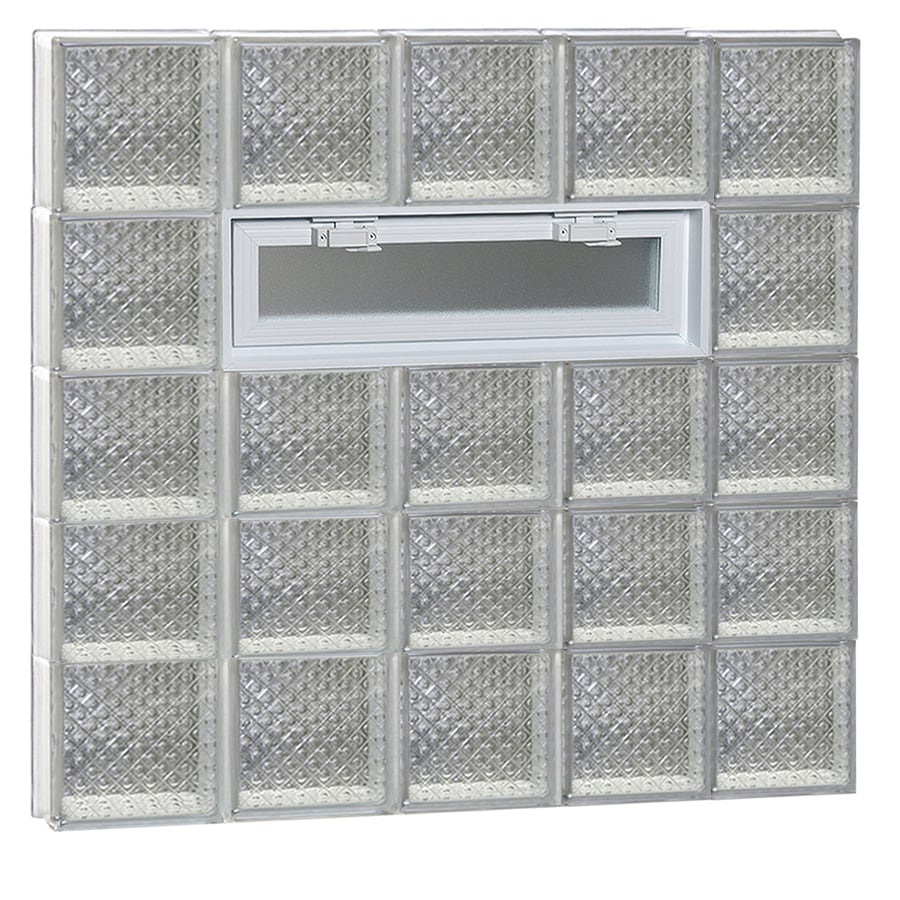 REDI2SET Diamond Pattern Frameless Replacement Glass Block Window (Rough Opening: 40-in x 40-in; Actual: 38.75-in x 38.75-in)