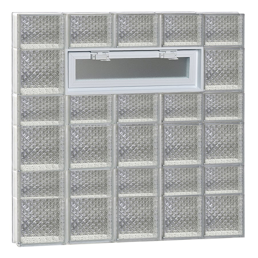 REDI2SET Diamond Pattern Frameless Replacement Glass Block Window (Rough Opening: 40-in x 42-in; Actual: 38.75-in x 40.5-in)