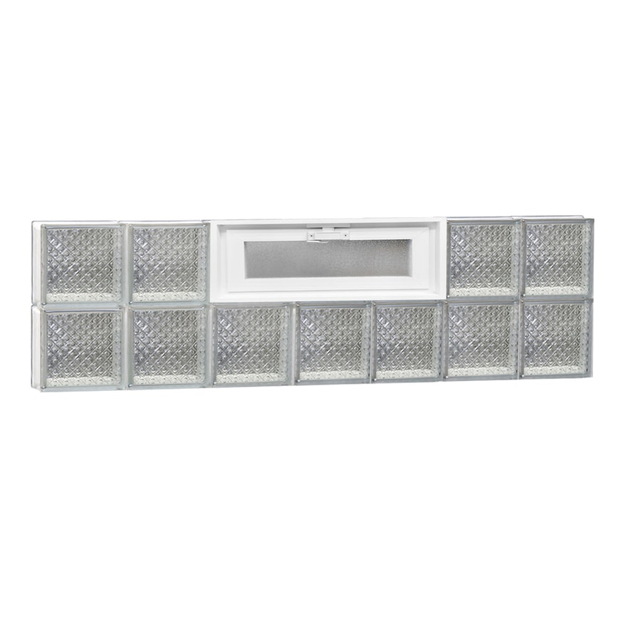 REDI2SET Diamond Pattern Frameless Replacement Glass Block Window (Rough Opening: 42-in x 12-in; Actual: 40.25-in x 11.5-in)