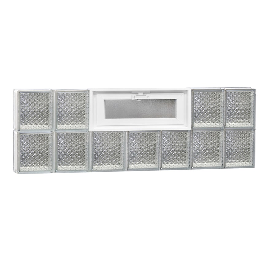 REDI2SET Diamond Pattern Frameless Replacement Glass Block Window (Rough Opening: 42-in x 16-in; Actual: 40.25-in x 15.5-in)