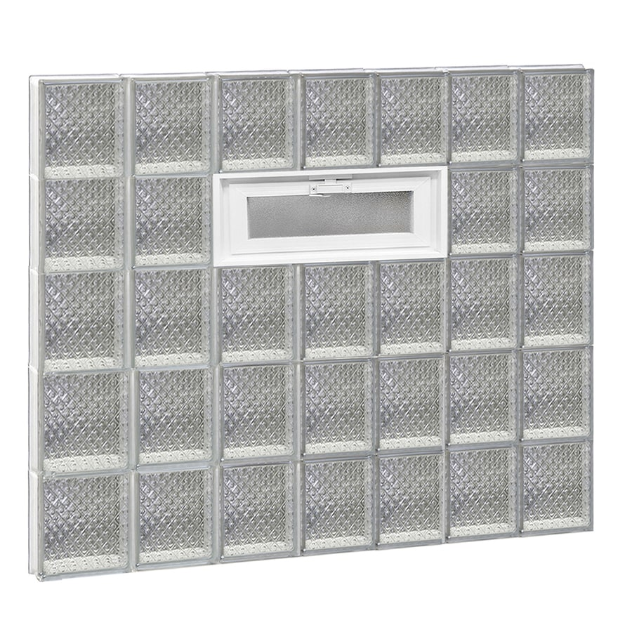 REDI2SET Diamond Pattern Frameless Replacement Glass Block Window (Rough Opening: 42-in x 40-in; Actual: 40.25-in x 38.75-in)