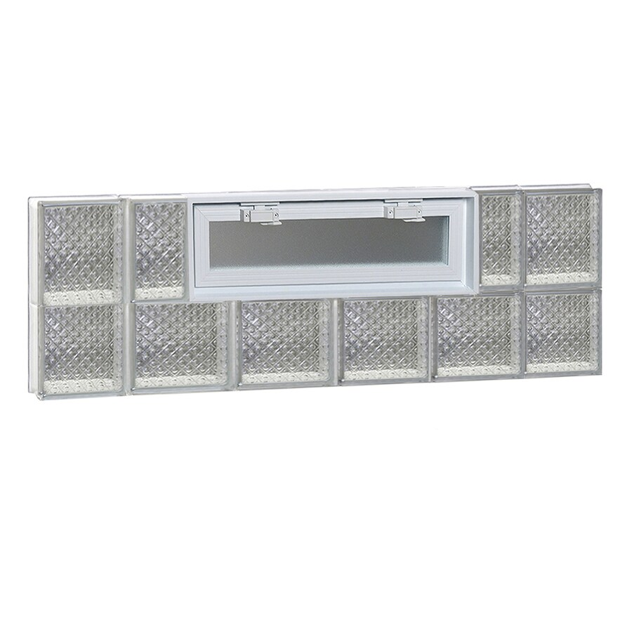 REDI2SET Diamond Glass Pattern Frameless Replacement Glass Block Window (Rough Opening: 44-in x 14-in; Actual: 42.5000-in x 13.5000-in)