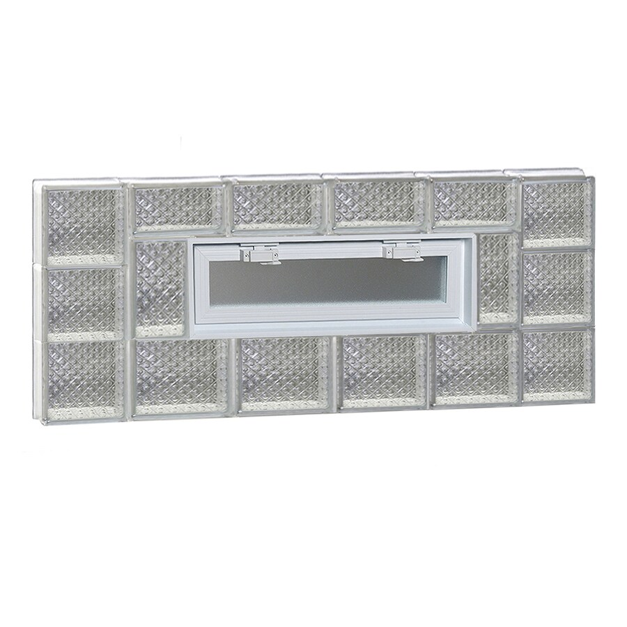 REDI2SET Diamond Pattern Frameless Replacement Glass Block Window (Rough Opening: 44-in x 18-in; Actual: 42.5-in x 17.25-in)