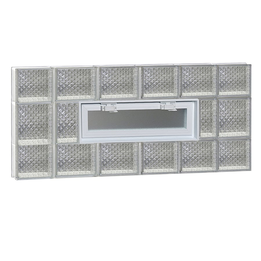 REDI2SET Diamond Pattern Frameless Replacement Glass Block Window (Rough Opening: 44-in x 20-in; Actual: 42.5-in x 19.25-in)