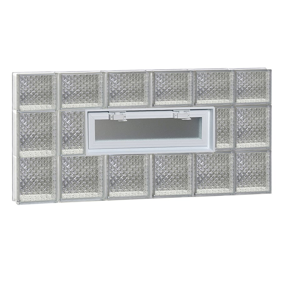 REDI2SET Diamond Pattern Frameless Replacement Glass Block Window (Rough Opening: 44-in x 22-in; Actual: 42.5-in x 21.25-in)
