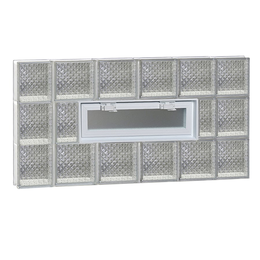 REDI2SET Diamond Pattern Frameless Replacement Glass Block Window (Rough Opening: 44-in x 24-in; Actual: 42.5-in x 23.25-in)