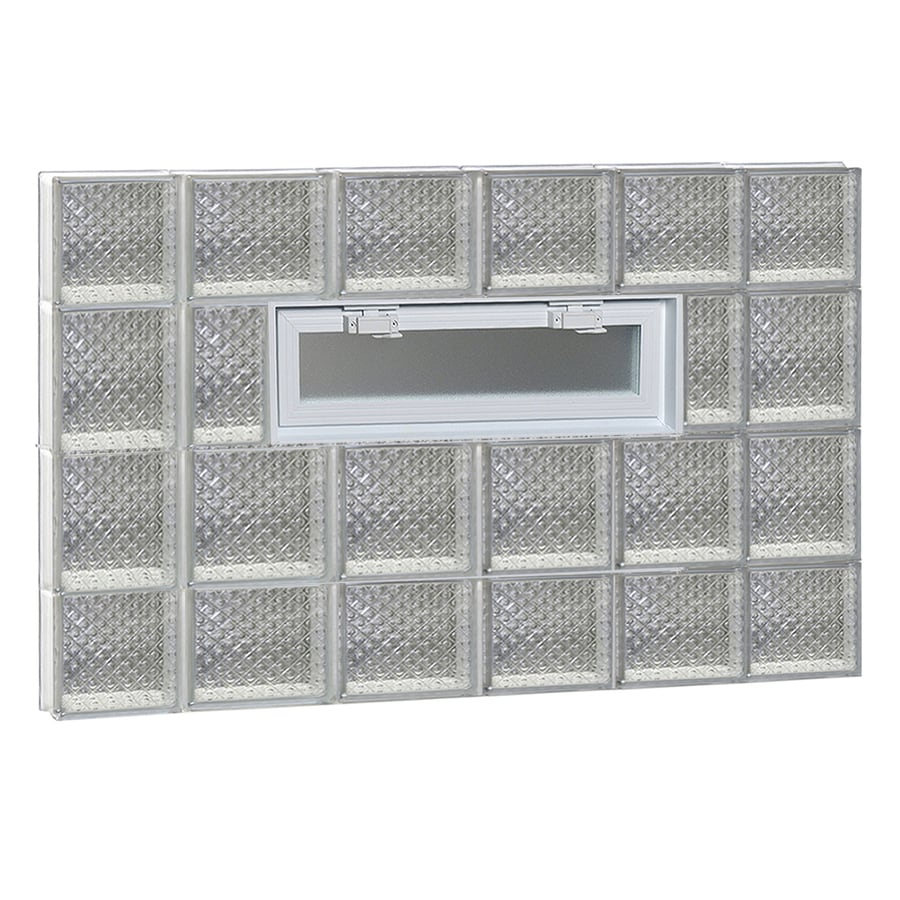 REDI2SET Diamond Pattern Frameless Replacement Glass Block Window (Rough Opening: 44-in x 28-in; Actual: 42.5-in x 27-in)