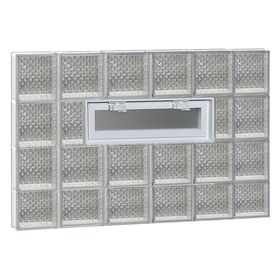 REDI2SET Diamond Pattern Frameless Replacement Glass Block Window (Rough Opening: 44-in x 30-in; Actual: 42.5-in x 29-in)