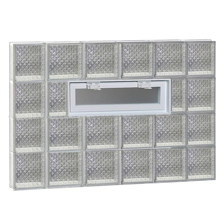 REDI2SET Diamond Pattern Frameless Replacement Glass Block Window (Rough Opening: 44-in x 32-in; Actual: 42.5-in x 31-in)