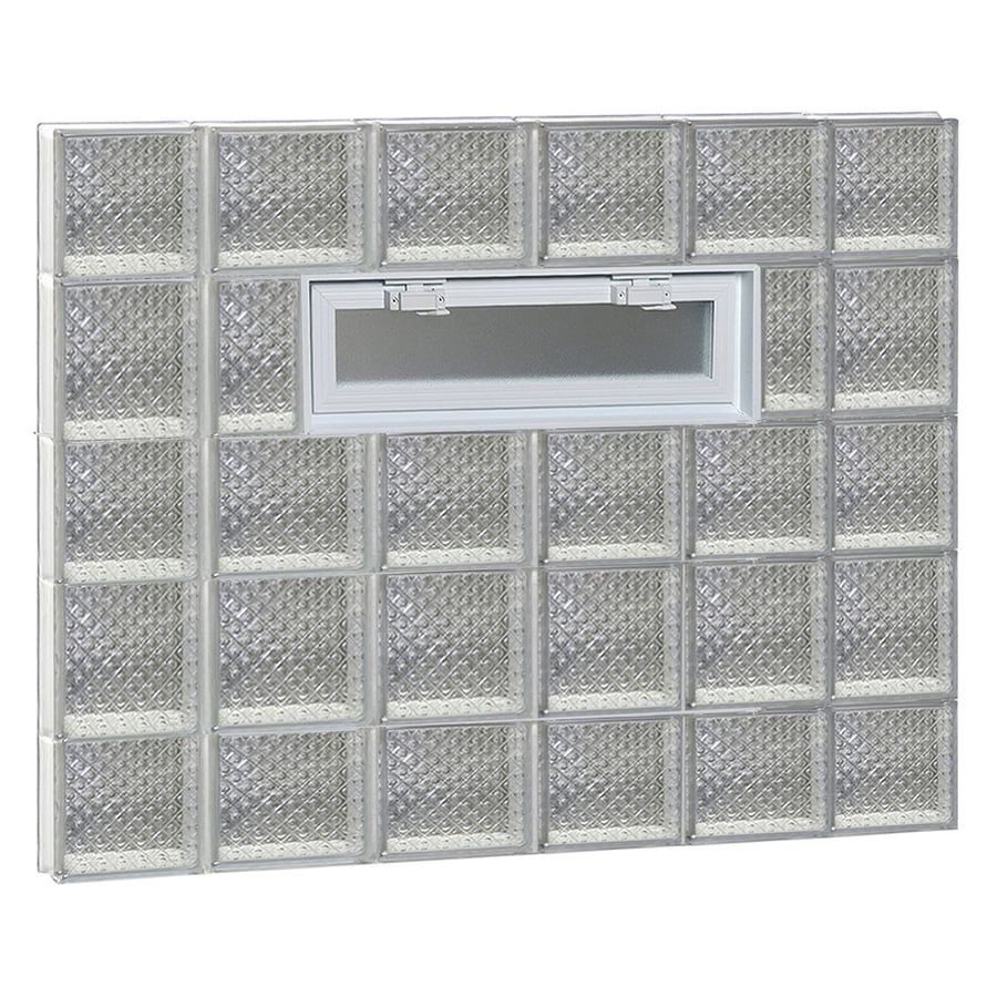 REDI2SET Diamond Pattern Frameless Replacement Glass Block Window (Rough Opening: 44-in x 34-in; Actual: 42.5-in x 32.75-in)