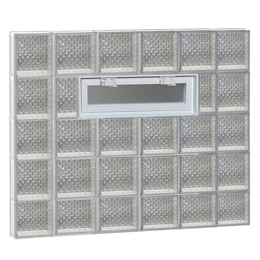 REDI2SET Diamond Pattern Frameless Replacement Glass Block Window (Rough Opening: 44-in x 38-in; Actual: 42.5-in x 36.75-in)