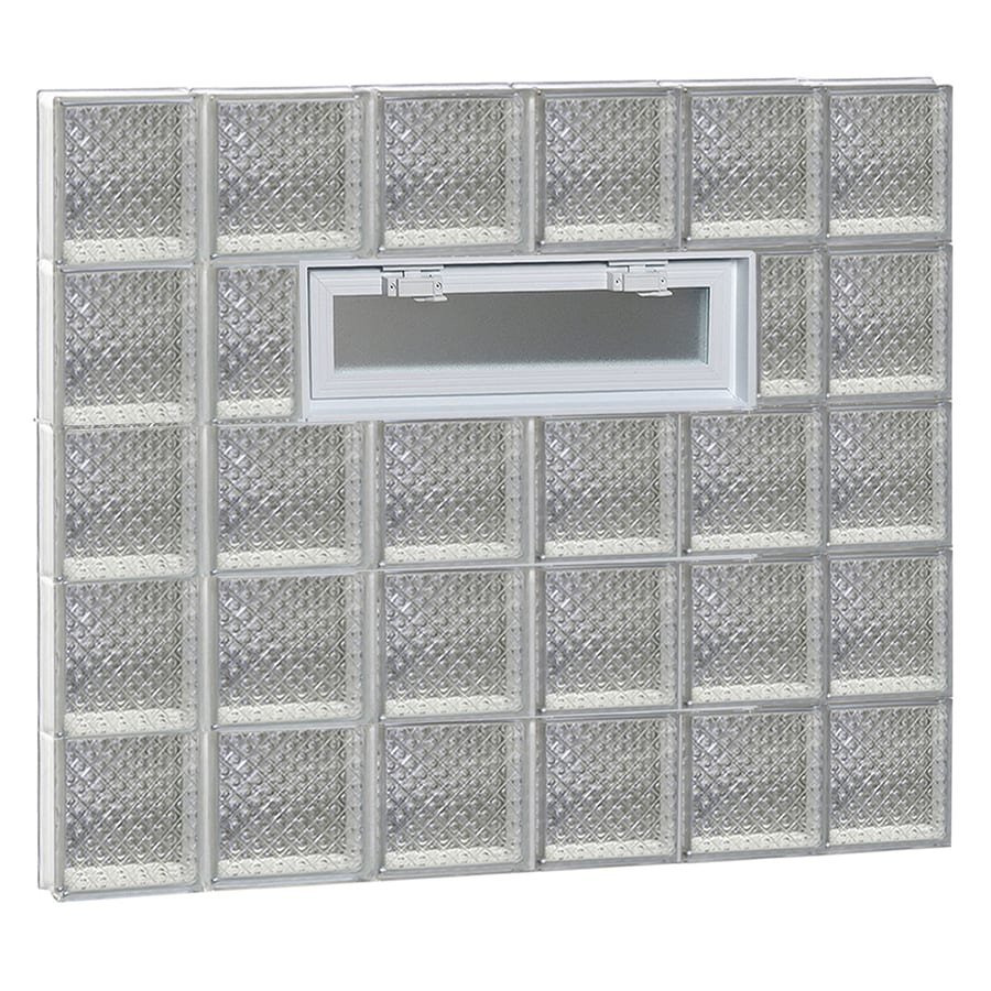 REDI2SET Diamond Glass Pattern Frameless Replacement Glass Block Window (Rough Opening: 44-in x 40-in; Actual: 42.5-in x 38.75-in)