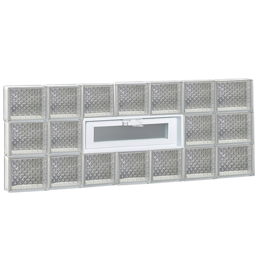 REDI2SET Diamond Pattern Frameless Replacement Glass Block Window (Rough Opening: 46-in x 18-in; Actual: 44.25-in x 17.25-in)