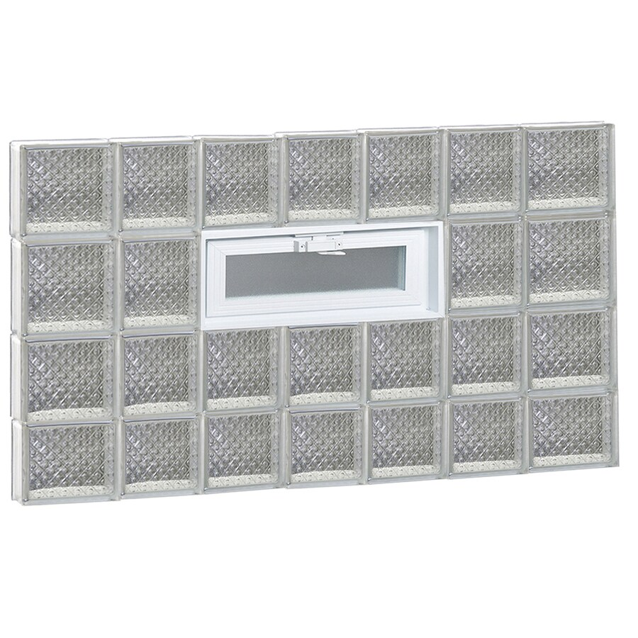 REDI2SET Diamond Pattern Frameless Replacement Glass Block Window (Rough Opening: 46-in x 30-in; Actual: 44.25-in x 29-in)