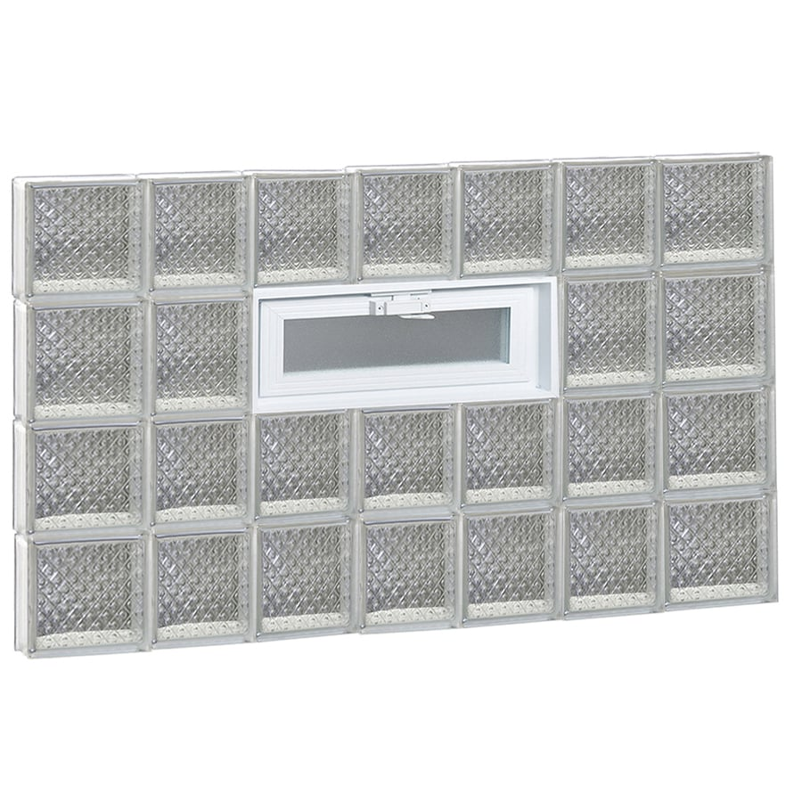 REDI2SET Diamond Pattern Frameless Replacement Glass Block Window (Rough Opening: 46-in x 32-in; Actual: 44.25-in x 31-in)