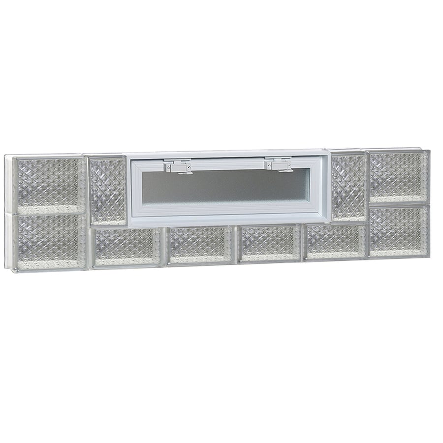 REDI2SET Diamond Pattern Frameless Replacement Glass Block Window (Rough Opening: 48-in x 12-in; Actual: 46.5-in x 11.5-in)