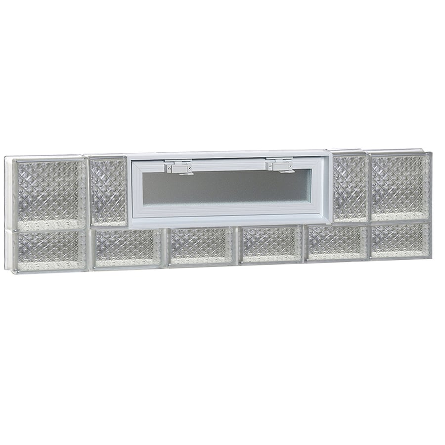 REDI2SET Diamond Pattern Frameless Replacement Glass Block Window (Rough Opening: 48-in x 14-in; Actual: 46.5-in x 13.5-in)