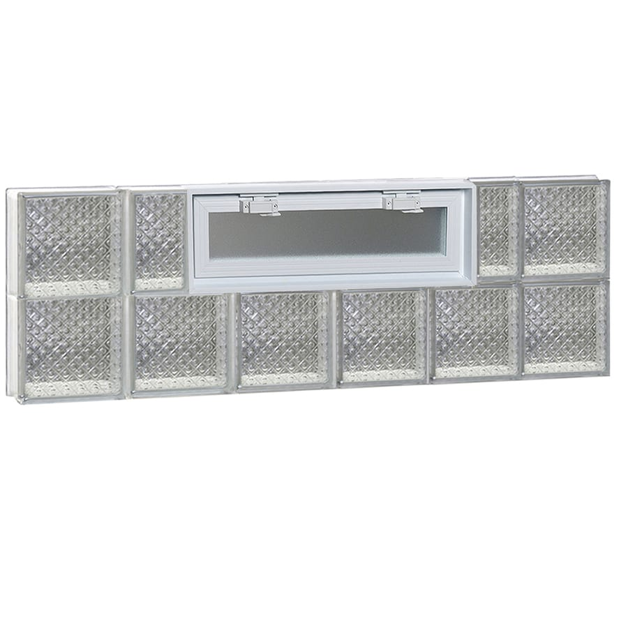 REDI2SET Diamond Pattern Frameless Replacement Glass Block Window (Rough Opening: 48-in x 16-in; Actual: 46.5-in x 15.5-in)
