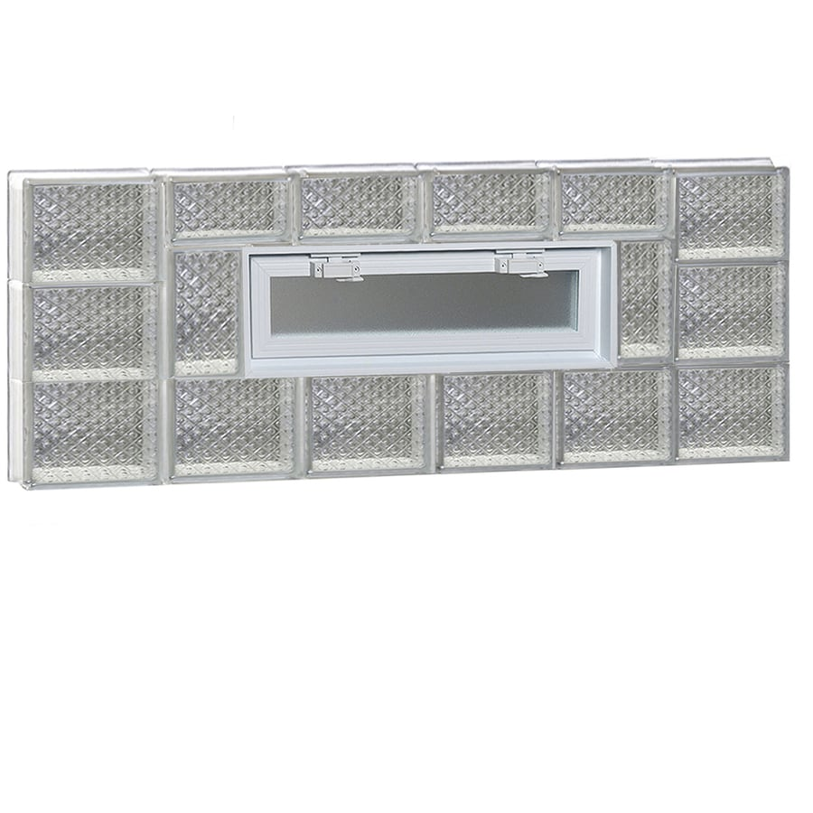 REDI2SET Diamond Pattern Frameless Replacement Glass Block Window (Rough Opening: 48-in x 18-in; Actual: 46.5-in x 17.25-in)