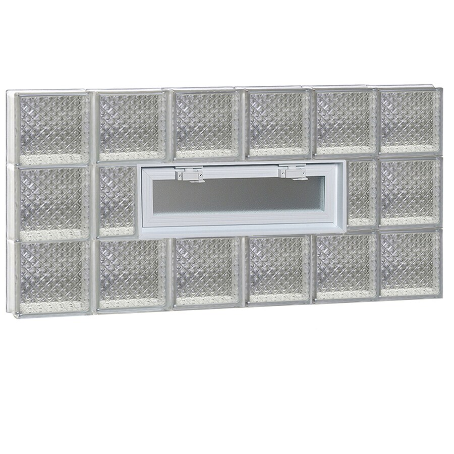 REDI2SET Diamond Pattern Frameless Replacement Glass Block Window (Rough Opening: 48-in x 24-in; Actual: 46.5-in x 23.25-in)