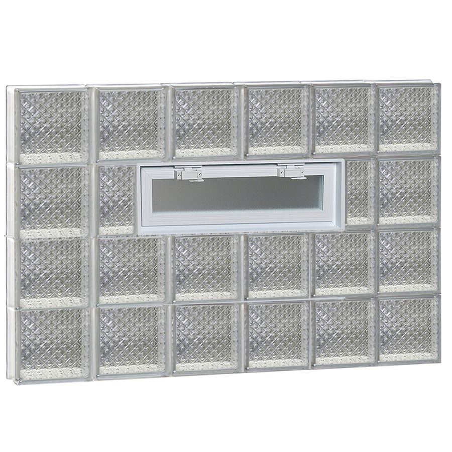 REDI2SET Diamond Pattern Frameless Replacement Glass Block Window (Rough Opening: 48-in x 32-in; Actual: 46.5-in x 31-in)