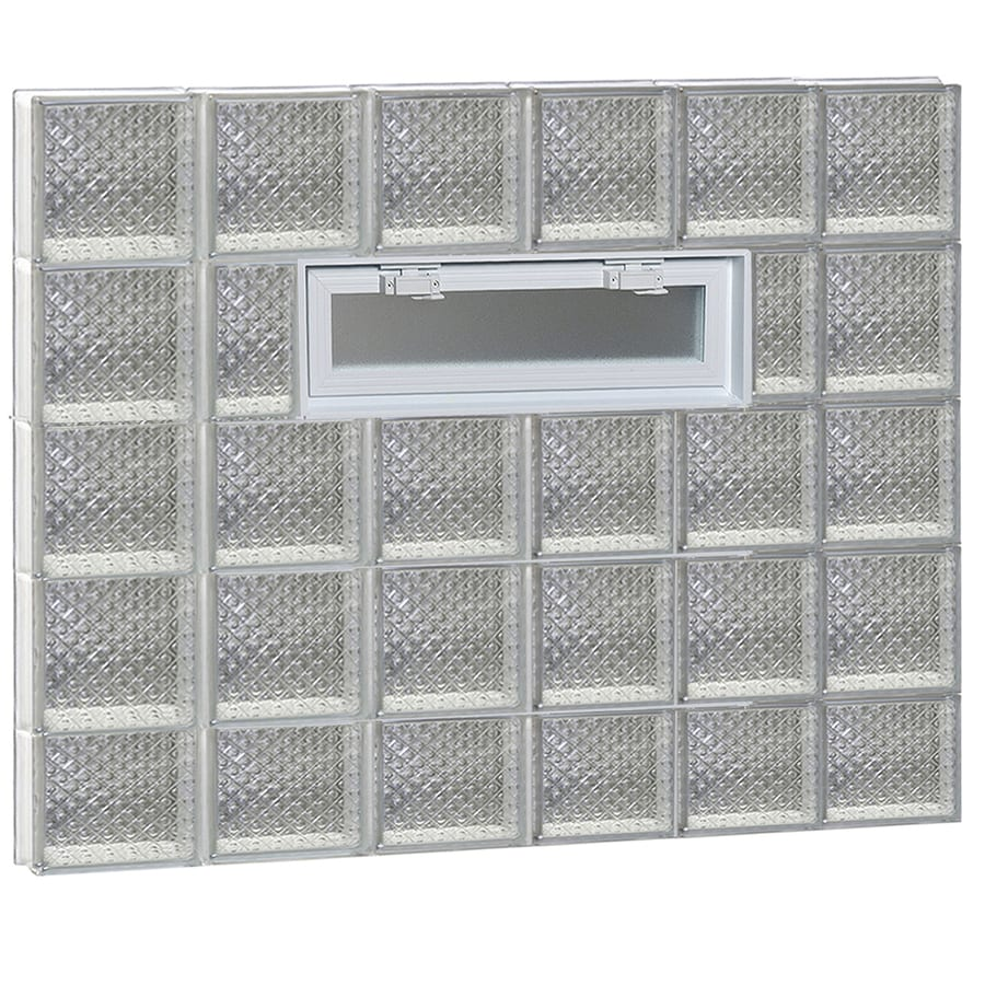 REDI2SET Diamond Pattern Frameless Replacement Glass Block Window (Rough Opening: 48-in x 34-in; Actual: 46.5-in x 32.75-in)