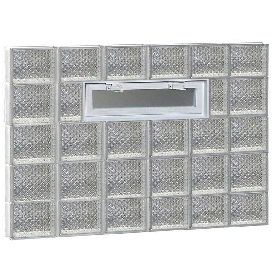 REDI2SET Diamond Pattern Frameless Replacement Glass Block Window (Rough Opening: 48-in x 36-in; Actual: 46.5-in x 34.75-in)